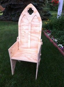 A Gothic Chair: Making Progress On My Camp Chair!