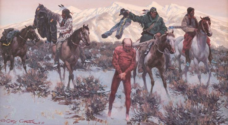 Gary Carter, oil on board   Re-up and See the West  kK