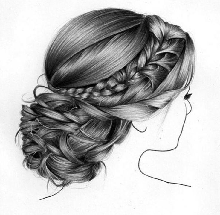Haare im wind zeichnen