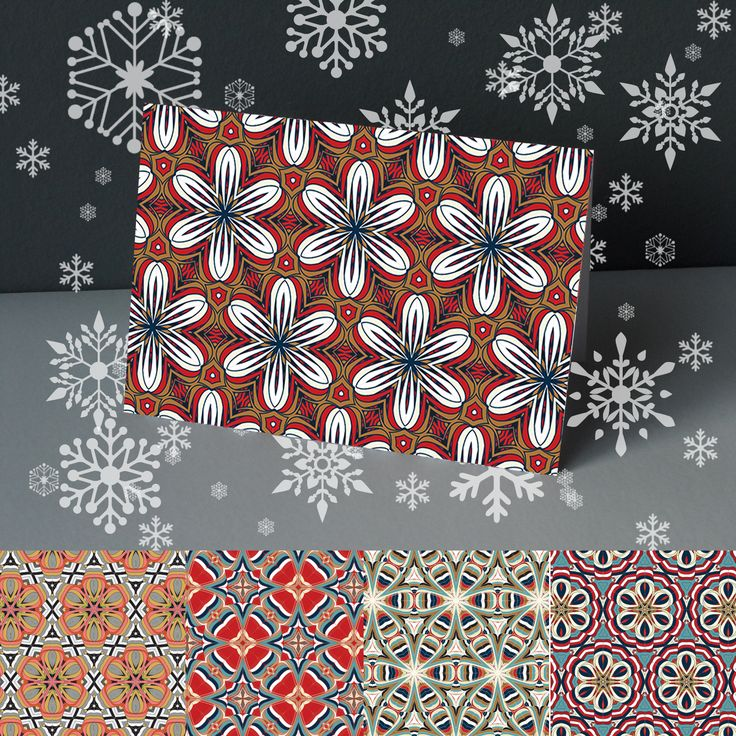 A Pack Of Five Patterned Cards http://www.designedbyruth.co.uk/cards/christmas-cards/a-pack-of-five-patterned-cards