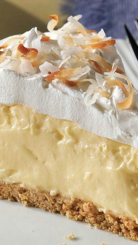 Easy Coconut Cream Pie ~ It looks like a special-occasion dessert, but this scrumptious coconut cream pie recipe is so easy to make you could whip it up any old time.