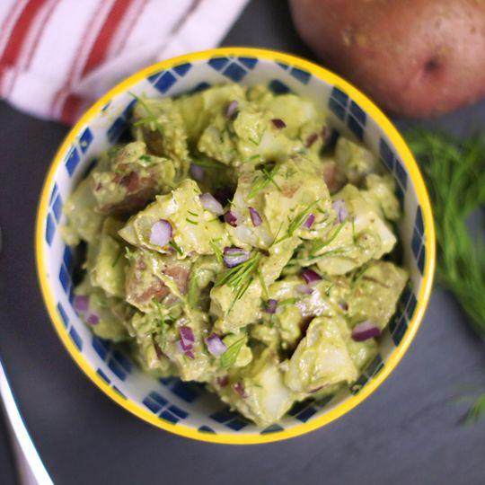 Creamy Potato Salad (Vegan) Author:Detoxinista.com Prep time: 30 mins Total time: 30 mins Serves:4  A creamy potato salad featuring hea...