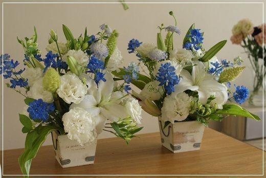 【今日の贈花】今日は迎え盆ですね。|Flower note の 花日記 (横浜・上大岡 アレンジメント教室)