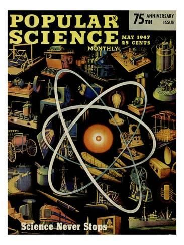 Front cover of Popular Science Magazine: May 1, 1947 Art Print