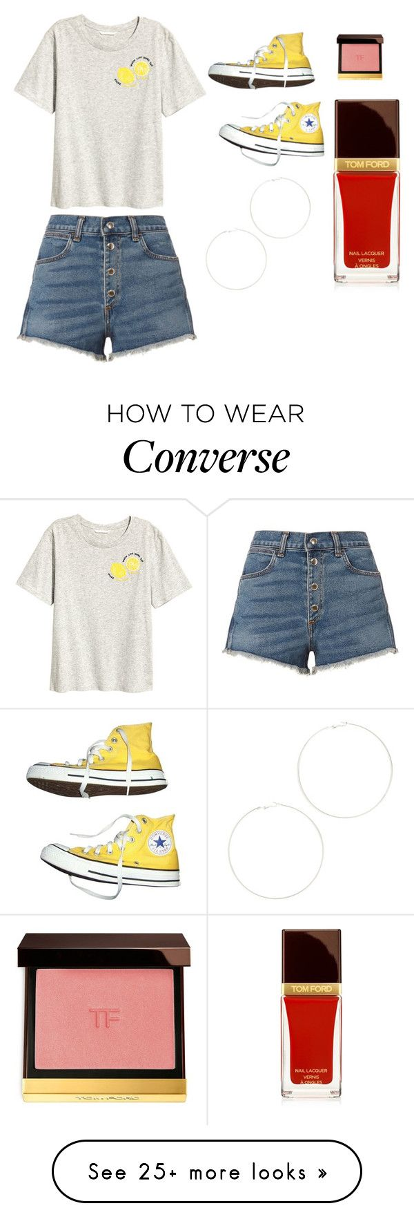"""""""Sans titre #6368"""" by merveille67120 on Polyvore featuring rag & bone, Converse, Kenneth Jay Lane and Tom Ford"""