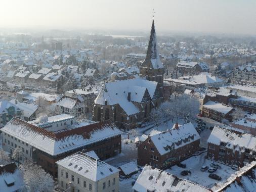 Lengerich winterlich Ballonteam - Beckmann