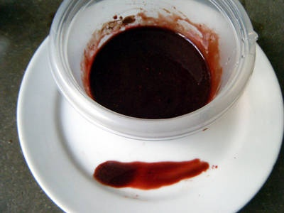 Realistic fake blood recipe- it's cocoa powder that makes it.