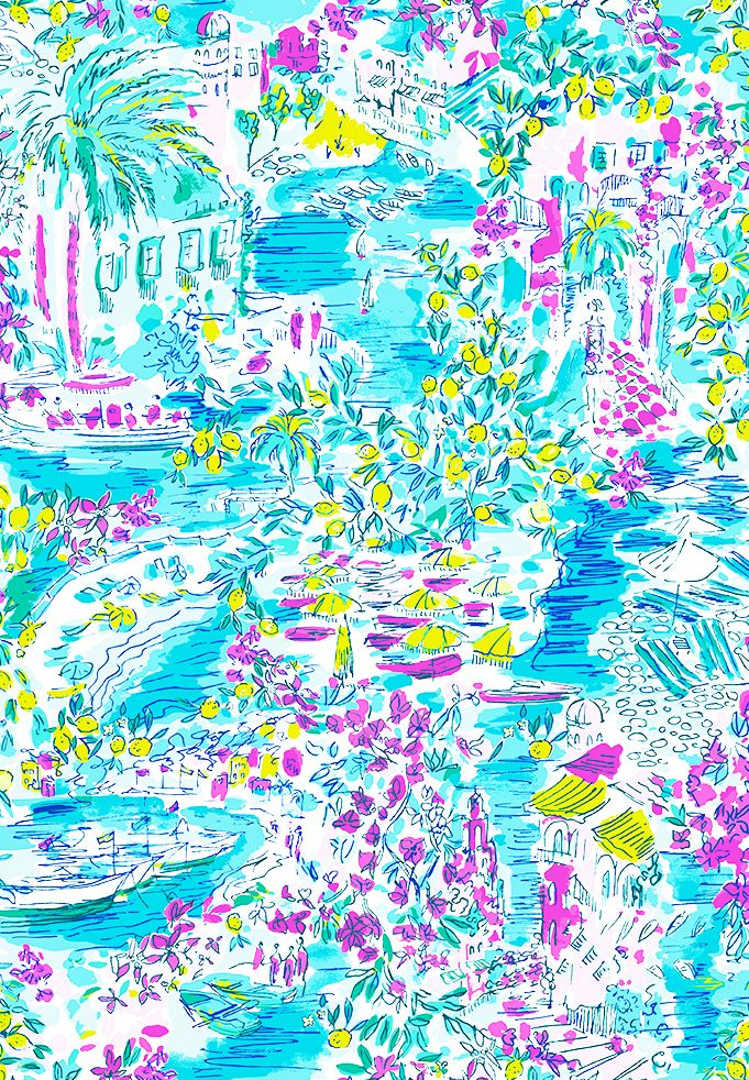 A Behind The Scenes Look At Our New Italy Inspired Prints Lilly