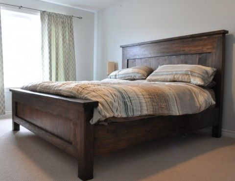 bed farmhouse bed frame farmhouse headboard diy bed king king bed ...