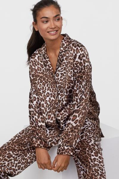 b062a8af8f Pajama Shirt and Pants - Beige leopard print - Ladies