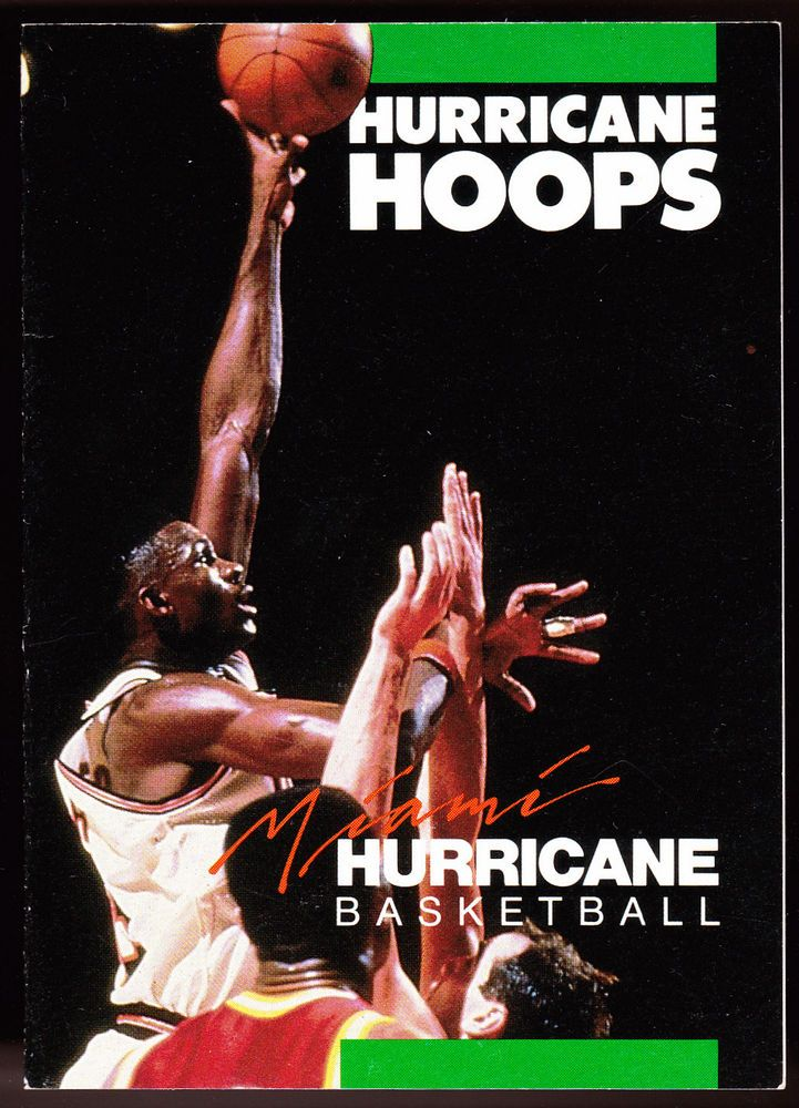 1987-88 MIAMI HURRICANES BURGER KING MEN'S BASKETBALL POCKET SCHEDULE FREE SHIP #Schedule