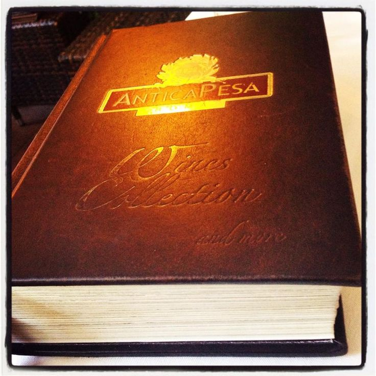 The wine list (or is that Bible) Antica Pesa, Rome, Italy.