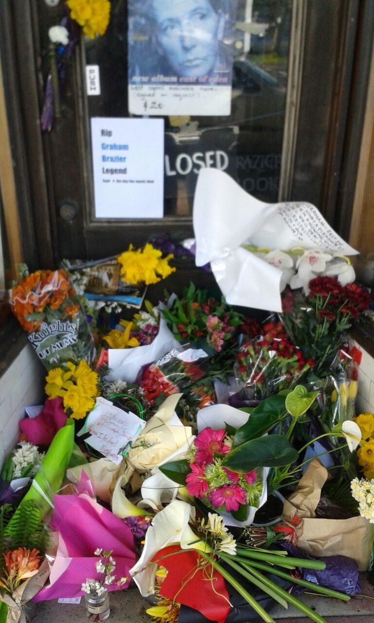 Graham Braziers - Braziers Bookshop Floral Memorial -