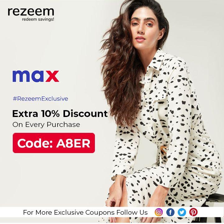 Extra 10 Off Max Promo Codes Max Fashion Promo Codes Online Coding