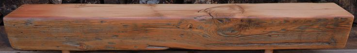 Reclaimed Wood Mantel - Rustic Douglas Fir Fireplace Mantel or Mantle Shelf(59-1/2 x 7-1/8 x 6-1/2) - Hand Finished by Harvestbilt on Etsy