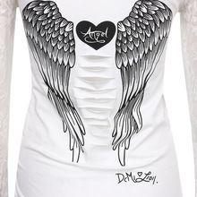 Mode vrouwen t-shirt terug holle engelenvleugels t-shirt tops zomer stijl vrouw kant volledige mouw tops t-shirts kleding(China (Mainland))