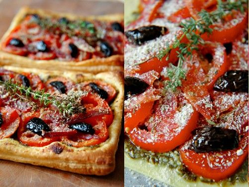 Tarte feuilletée comme une pizza {in  French}