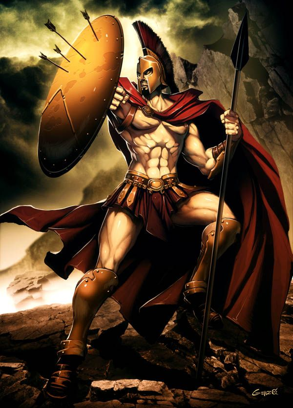 Leonidas: the leader of the 300 spartans that took on and destroyed an army of thousands of persian armies and inspired other nations that even a small group of men can make a difference and can stand up to