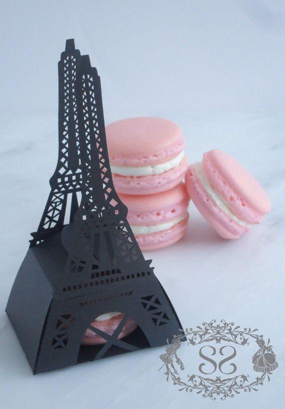 French Macaron Favor Paris Wedding Eiffel by SplendidSweetShoppe, $5.00
