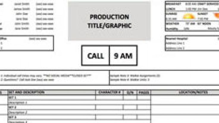 Download a Free Call Sheet Template to Get Your Film Crew on the - actor release form