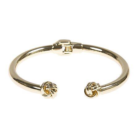 Cuff bracelet with knots. Achilleas Accessories - FW 2016-17 - Bijoux