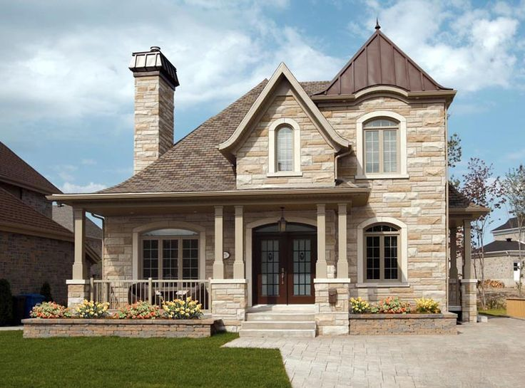 Only Love the outside of this home...European   House Plan 76309