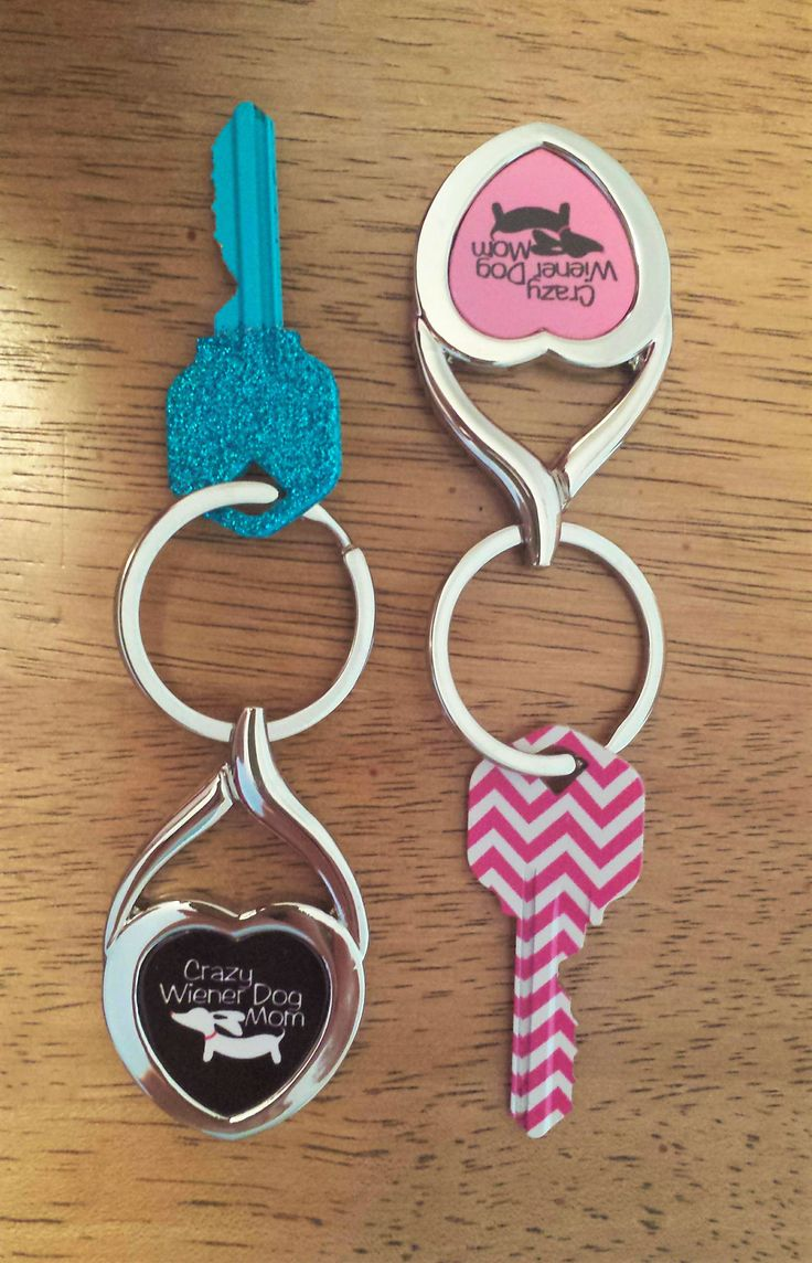 Dachshund love declared with Crazy Wiener Dog Mom key rings from The Smoothe Store