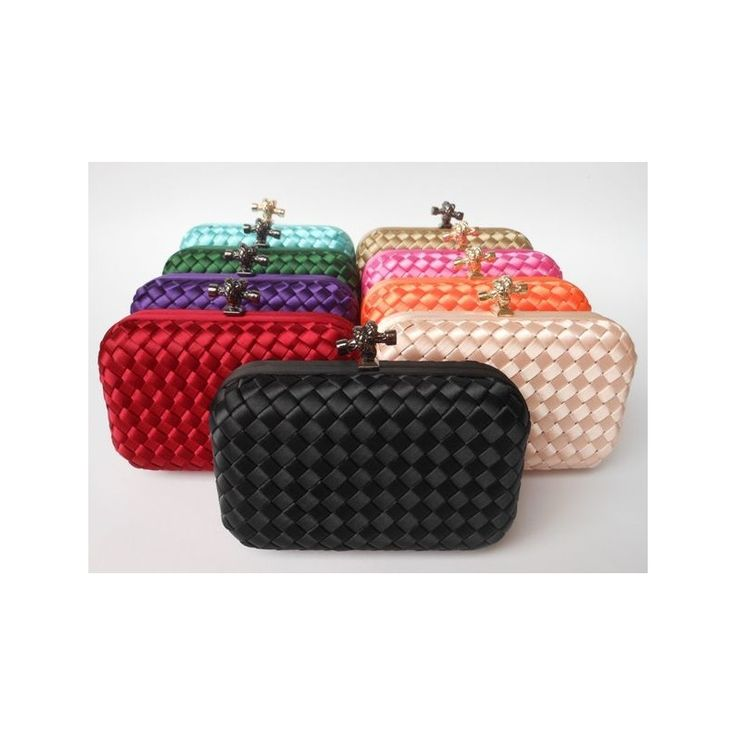 Women candy color Wove evening bag and clutches,Factory Price,Worldwide Free Shipping!