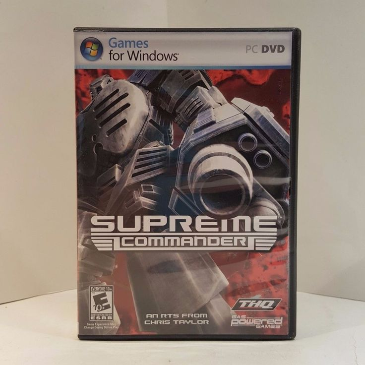 SUPREME COMMANDER Game 2007 Windows PC DVD/CD-ROM With Manual