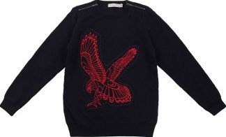 Stella Mccartney Bobby the eagle sweatshirt Navy blue `4 years Fabrics : Biological quilted cotton jersey Details : Eagle pattern, Straight cut, Round neckline, Long sleeves, Zipped at the collar, Quilted Composition : Organic cotton grown without pesticides http://www.comparestoreprices.co.uk/january-2017-7/stella-mccartney-bobby-the-eagle-sweatshirt-navy-blue-4-years.asp
