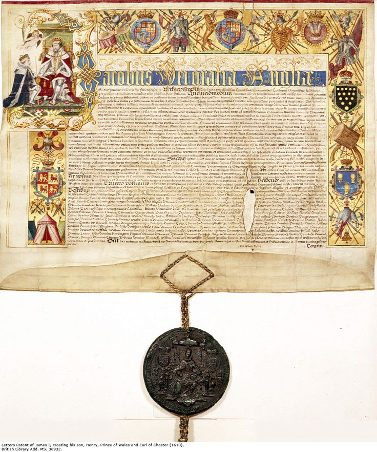Letters patent of King James I creating Henry Prince of Wales, 1610