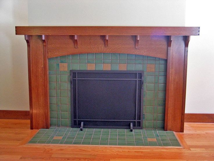 1000 images about dream home on pinterest renewable for Arts and crafts tile fireplace