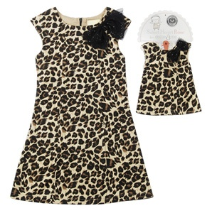 leopard print dress with bow