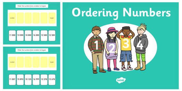 Ordering 5 Digit Numbers PowerPoint