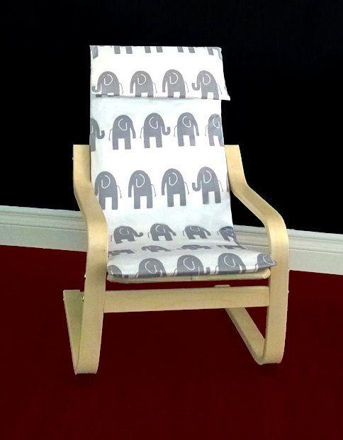 IKEA KIDS POÄNG Cushion Slipcover  White di RockinCushions su Etsy