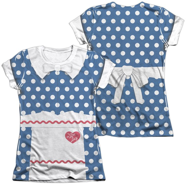 I Love Lucy - Lucy Costume Junior All Over Print Poly-Cotton T-Shirt