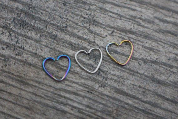 Daith Heart, Rook Piercing, Daith Piercing, Rook Earring, Daith Earrings, Rook Jewelry, Daith Ring, Rook Hoop, Daith Jewellery, Daith Hoop - iluvpiercingsntats @ etsy.com