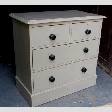 A painted pine chest of drawers
