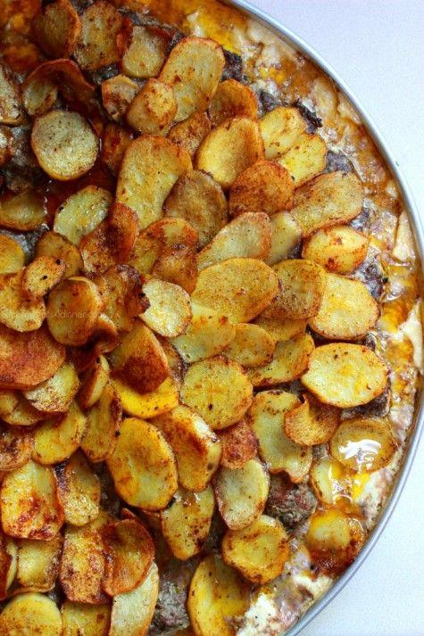 Kafta and Potatoes with Tahini Sauce