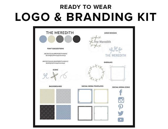 Building a website or starting a blog and need help with brand identity and styling? This premade logo and branding kit is just what you need. Perfect for new bloggers and female entrepreneurs. The Meredith: Inspired by the one and only Meredith Grey. The One of a Kind Branding Kit Version is Grey Chic available here: https://www.etsy.com/uk/listing/510441028/logo-design-branding-kit-one-of-a-kind Upon receipt of payment, you will receive a zip file containing...