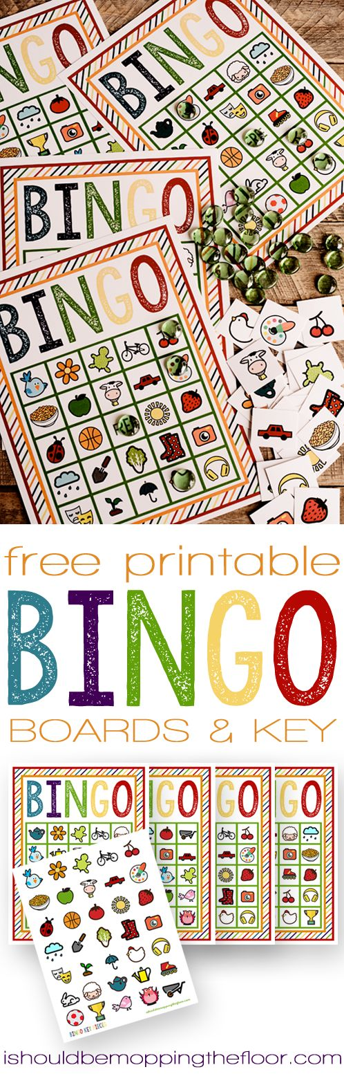 Free Printable Spring Bingo Pack | Four Boards and Key | Instant Downloads #EarlyMemories #ad