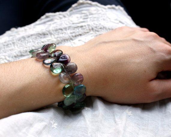 So delicate!: Cuffs Bracelets, Fluorit Bracelets, Fashion Forward, Rainbows Fluorit
