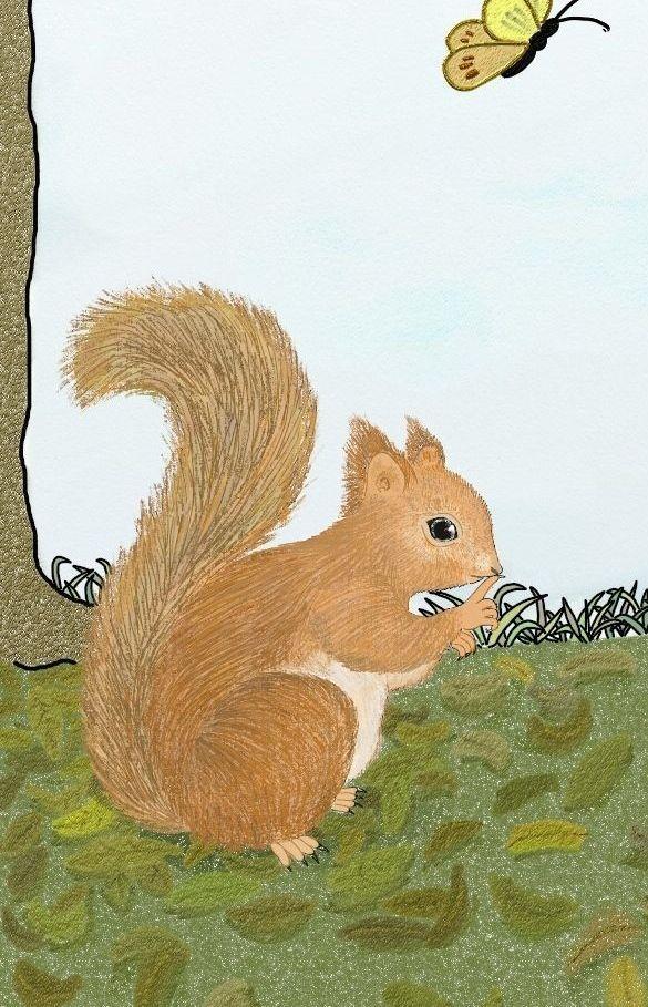 """Sssshhhh...!"" said the squirrel"