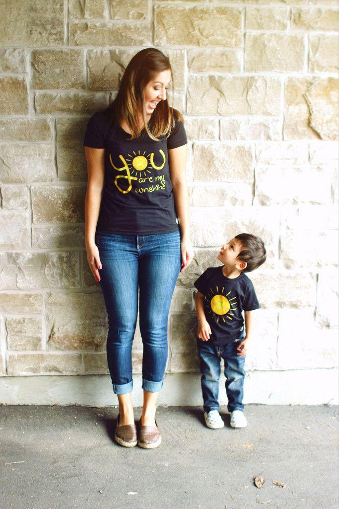 Sunshine Mommy Black T-Shirt