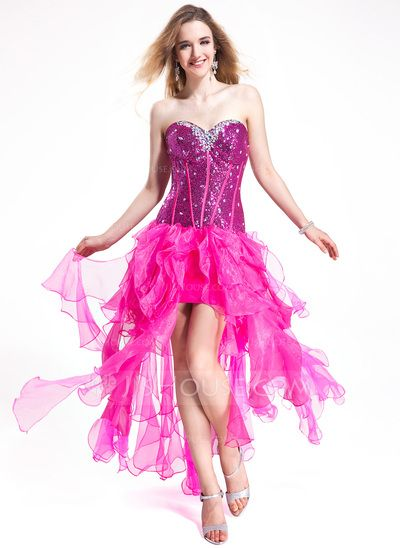Prom Dresses - $168.99 - A-Line/Princess Sweetheart Floor-Length Organza Sequined Prom Dress With Beading (018025263) http://jjshouse.com/A-Line-Princess-Sweetheart-Floor-Length-Organza-Sequined-Prom-Dress-With-Beading-018025263-g25263?ver=1