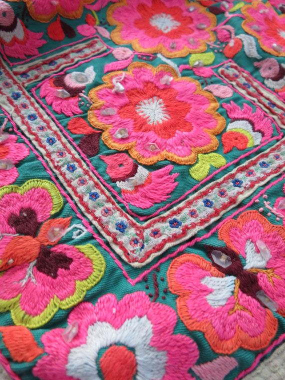 Hmong Vintage baby carrier textiles fait main par dellshop sur Etsy