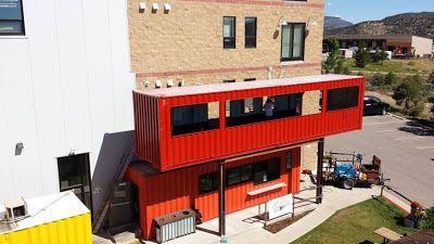 Shipping Container Homes: 2 x Shipping Containers, - The Container Restaurant, - Durango, Colorado,