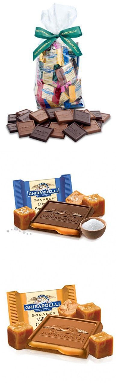 Ghirardelli Chocolate Squares Holiday Gift Bag - 80 Count (Caramel Lovers)