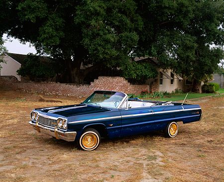 1964 Chevy Impala SS Convertible Lowrider Blue