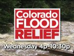 CBS4 along with other Denver TV stations will air a Colorado Flood Relief telethon on Wednesday from 4 – 10:30 p.m. Funds raised will go to American Red Cross and Community Food Share. All funds collected by Community Food Share will be split between: Weld County Food Bank, Food Bank of Larimer County and Community Food Share